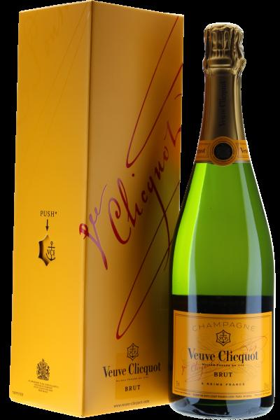 Veuve Cliquot Ponsardine Champagne brut in Geschenkpackung