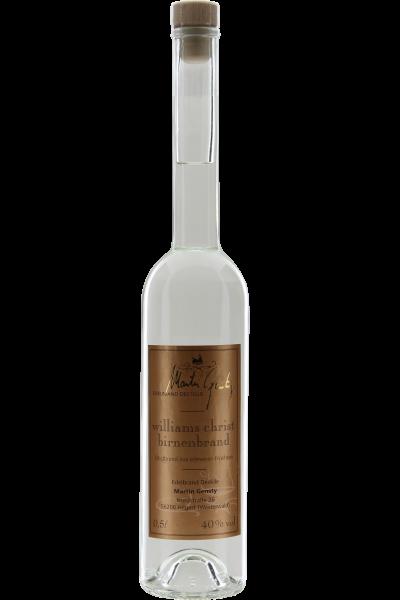 Williams Christ Birnenbrand 0,5L Edelbrand Destille Martin Gensty