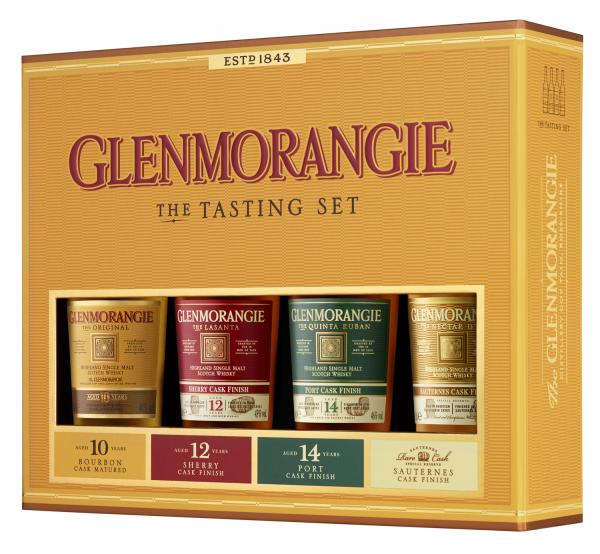 Glenmorangie Single Malt Whisky in GP 4x0,1L Taster Pack Orig. QR,ND,LS