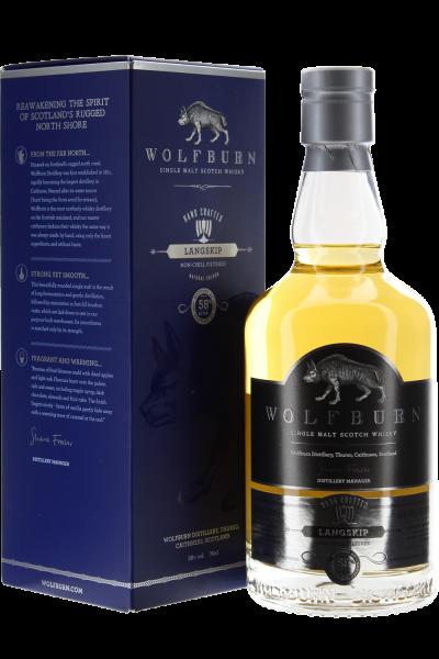 Wolfburn Langskip Scotch Whisky in Geschenkpackung
