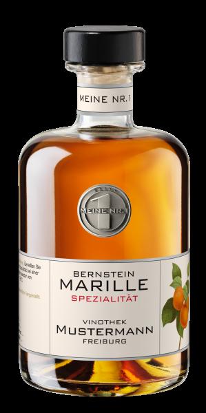 Bernstein Marille Platin Private Label Spirituose Scheibel