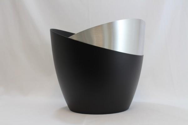 Weinkühler Groß Aluminium Gebürstet Alu Schwarz Matt - Arir