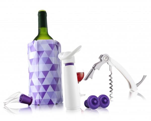 Wine Essentials Vacu Vin Kühler,Ausgießer,Stopfen,Pumpe,Öffner