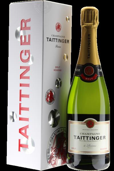 Taittinger Brut Reserve Champagne in Geschenkverpackung