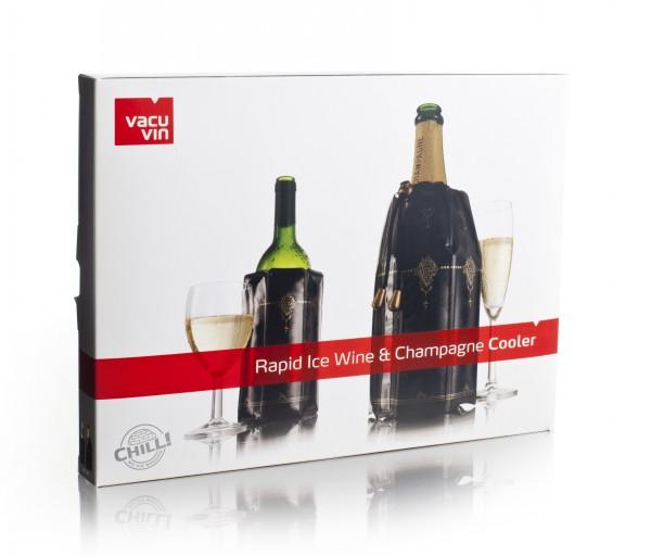 Schnellkühler 2er Set Wein und Sekt Vacu Vin 3887360