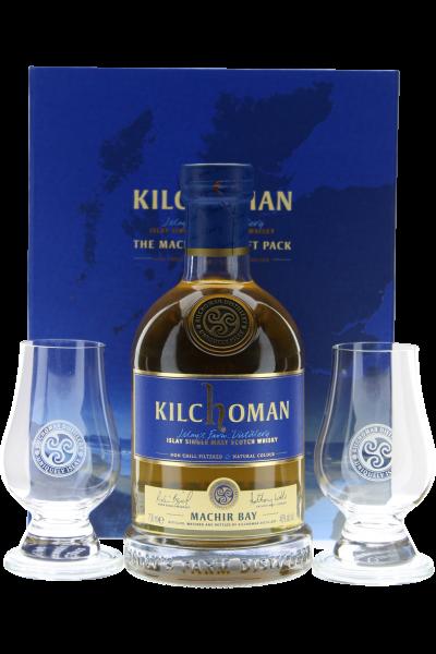 Kilchoman Machir Bay Whisky in Geschenkpackung mit 2 Gläser