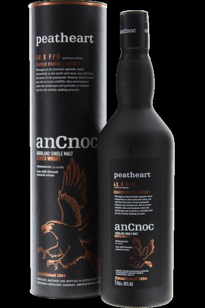 AnCnoc Peatheart Highland Single Malt Scotch Whisky in Geschenkpackung