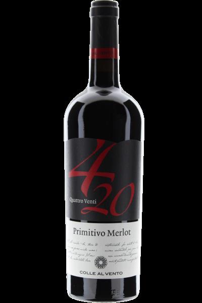 Primitivo Merlot 4/20 Quattro Venti Colle al Vento 2019 420