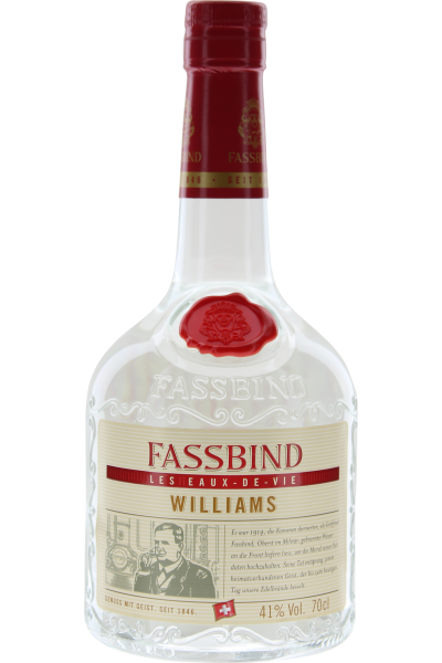 Fassbind Eaux de Vie Williams 41% Vol. Schweiz