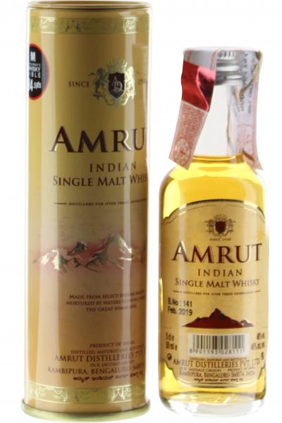 Amrut Indian Single Malt Indian Mini Whisky in Geschenkpackung