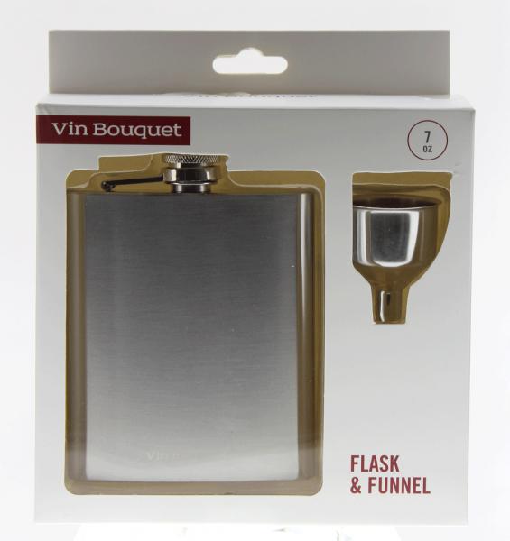 Flachmann Silber u. Trichter Vin Bouquet FIA387