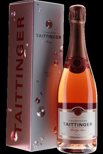 Taittinger Prestige Rosé Brut Champagner in Geschenkverpackung