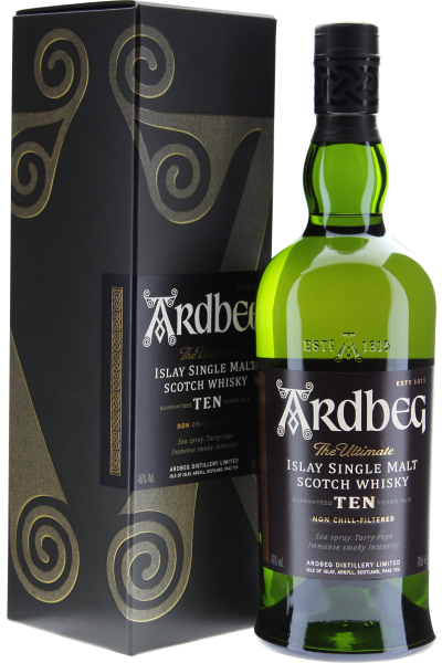 Ardbeg Islay Single Malt Whisky 10 Years Old in Geschenkpackung