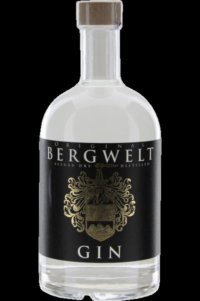 Bergwelt Gin 0,5 L Allgäu Dry Distilled Holundermanufaktur Bergwelt