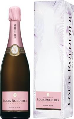 Louis Roederer Champagne Rosé 2014 in Grafik-Geschenkpackung