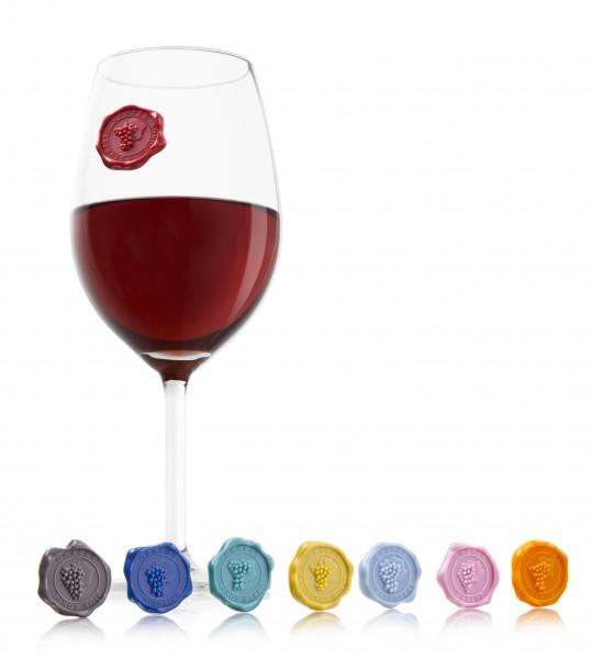 Glasmarker Classic 8 Stück Vacu Vin verschiedenfarbig