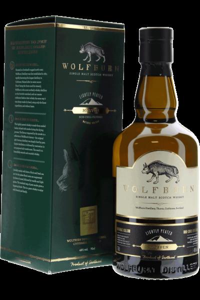 Wolfburn Morven Lightly Peated Whisky Single Malt in Geschenkpackung