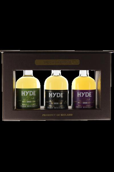 Hyde Minipack 3 x 0,05 l Irish Whiskey in Geschenkpackung