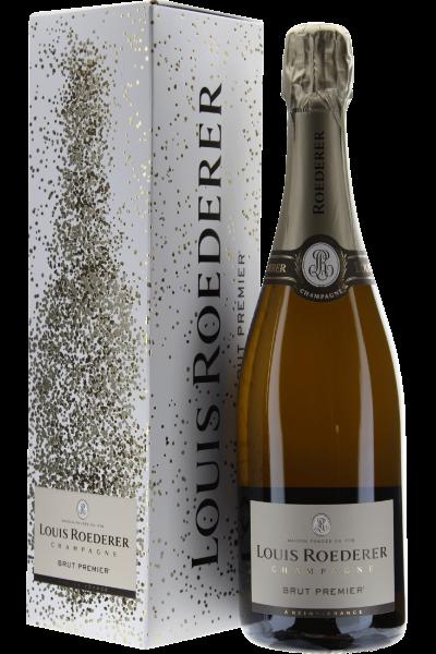 Louis Roederer Champagne Brut Premier in Grafik-Geschenkpackung
