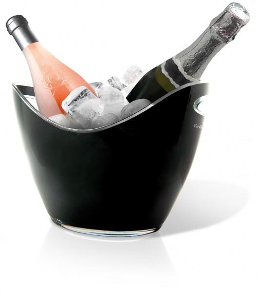 Weinkühler für 2 Flaschen Vin Bouquet FIE 006 schwarz Champagnerkühler